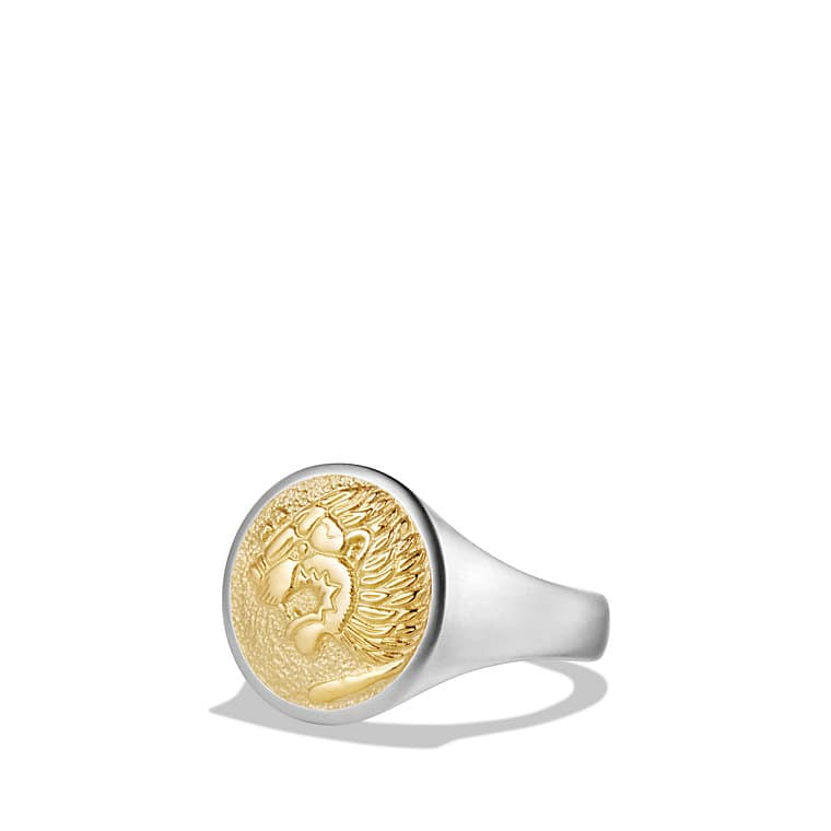 petrvs signet ring with 18k gold