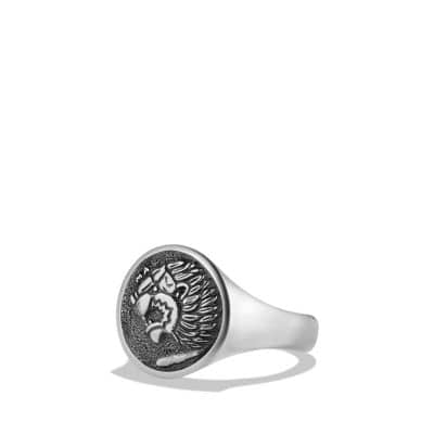 Petrvs Lion Signet Pinky Ring