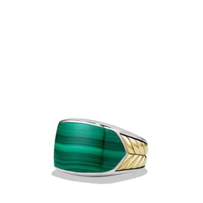 Ring with Malachite and 18K Gold