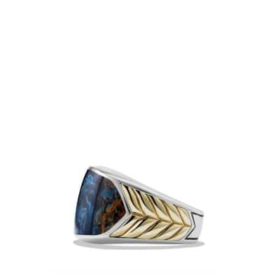 Ring with Pietersite and 18K Gold