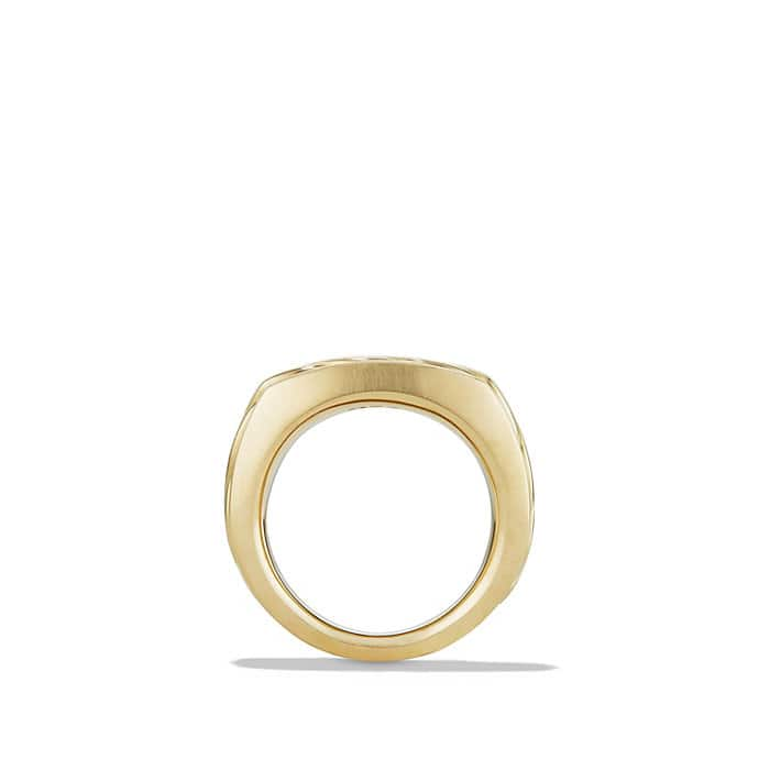 cable classics signet ring in 18k gold