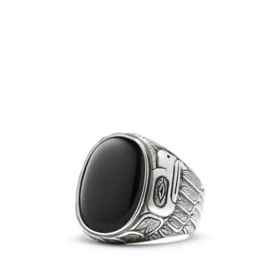 Northwest Signet Ring with Black Onyx