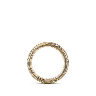 Northwest Narrow Band Ring in 18K Gold, 6mm