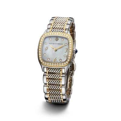 Thoroughbred 25mm Stainless Steel, 18K Gold and Sterling Silver Quartz Watch with Diamonds