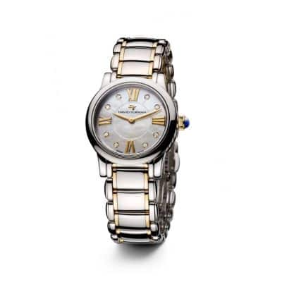 Classic 30mm Quartz Watch with 18K Gold and Diamonds