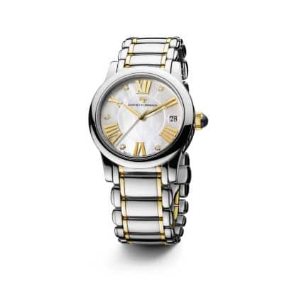 designer watches for women david yurman classic 34mm stainless steel and 18k gold quartz watch diamond markers