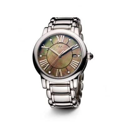 Classic 38mm Quartz Watch with Diamonds