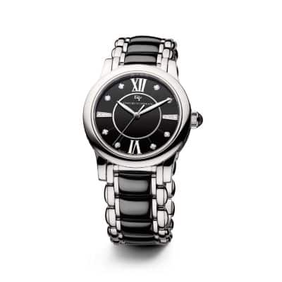 Classic 34mm Quartz Watch with Black Ceramic