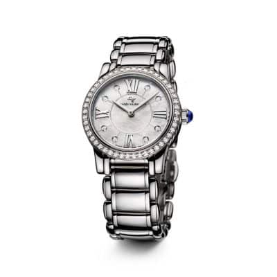 Classic 30mm Quartz Watch with Diamonds