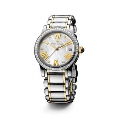 Classic 34mm Quartz Watch with 18K Gold and Diamonds