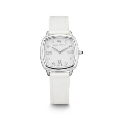 Albion 27mm Leather Swiss Quartz Watch in White