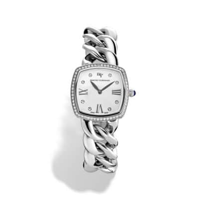 Albion 27mm Stainless Steel Quartz Watch with Diamonds