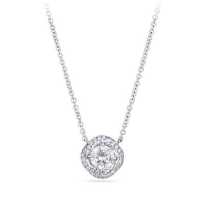 DY Lanai Pendant Necklace with Diamonds in 18K White Gold
