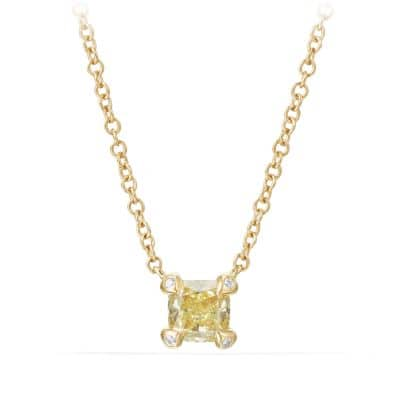 Precious Chatelaine® Pendant Necklace with Yellow Diamonds in 18K Gold