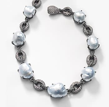 A David Yurman South Sea Baroque Pearl And Diamond Necklace
