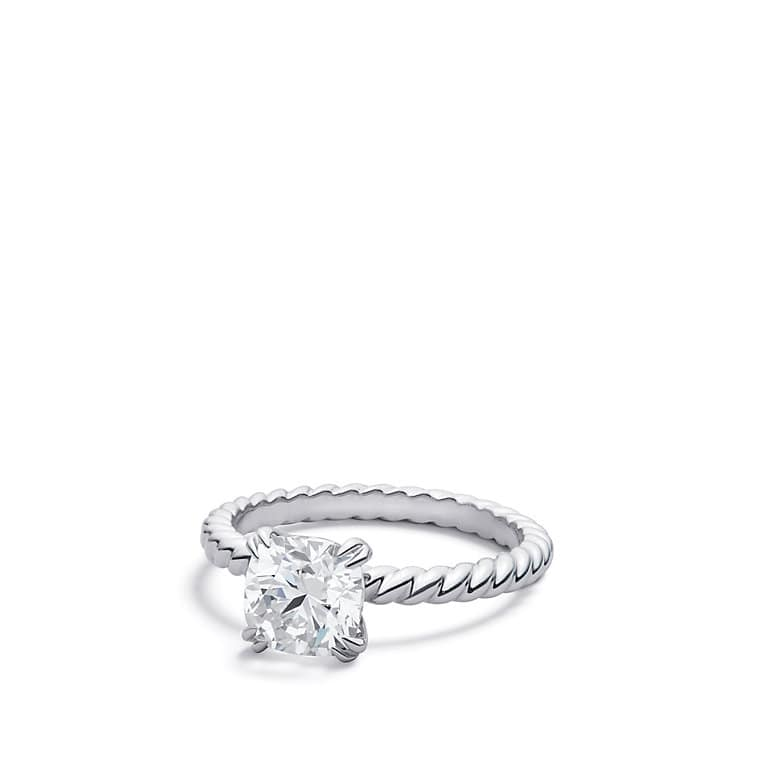 Fabulous DY Unity Cable Engagement Ring in Platinum, DY Signature Cut YJ69