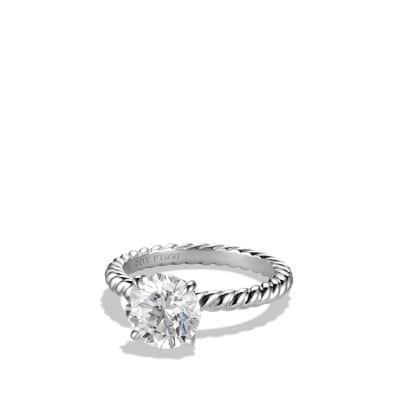 Dy Unity Cable Engagement Ring In Platinum Round