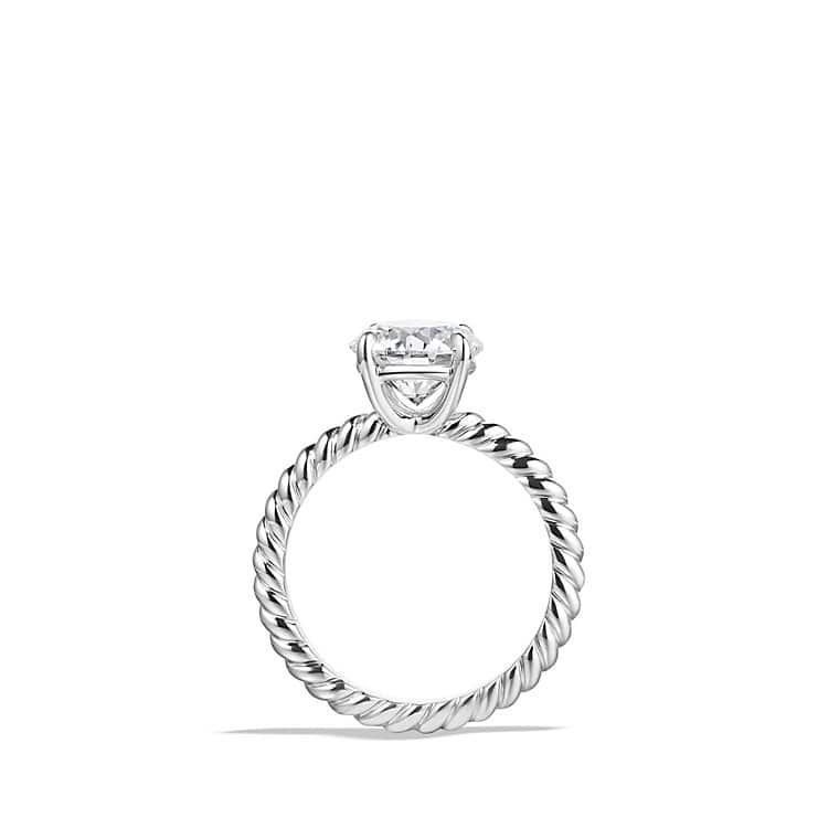 Top DY Unity Cable Engagement Ring in Platinum, Round GI48