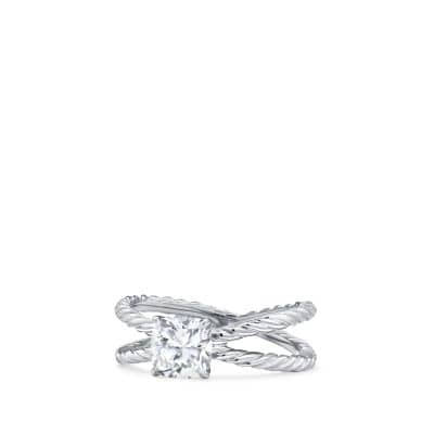 DY Crossover Petite Engagement Ring