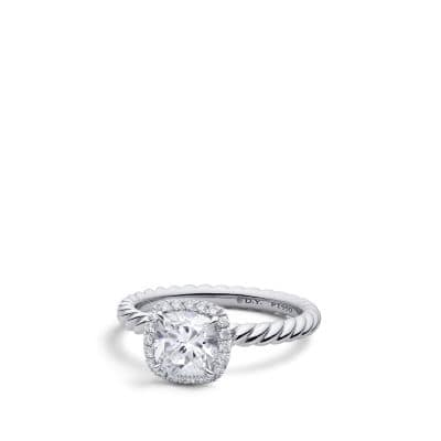 DY Capri Engagement Ring in Platinum, DY Signature Cut
