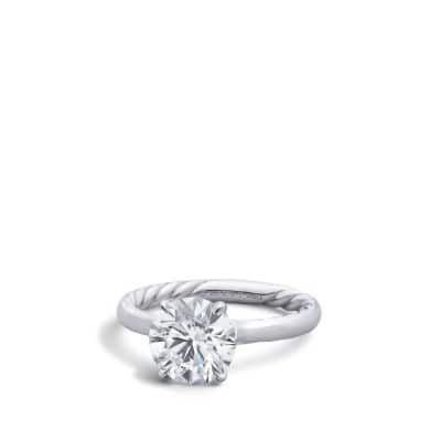 DY Eden Solitaire Engagement Ring in Platinum, Round