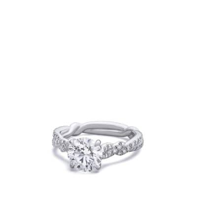 DY Wisteria Engagement Ring in Platinum, Round