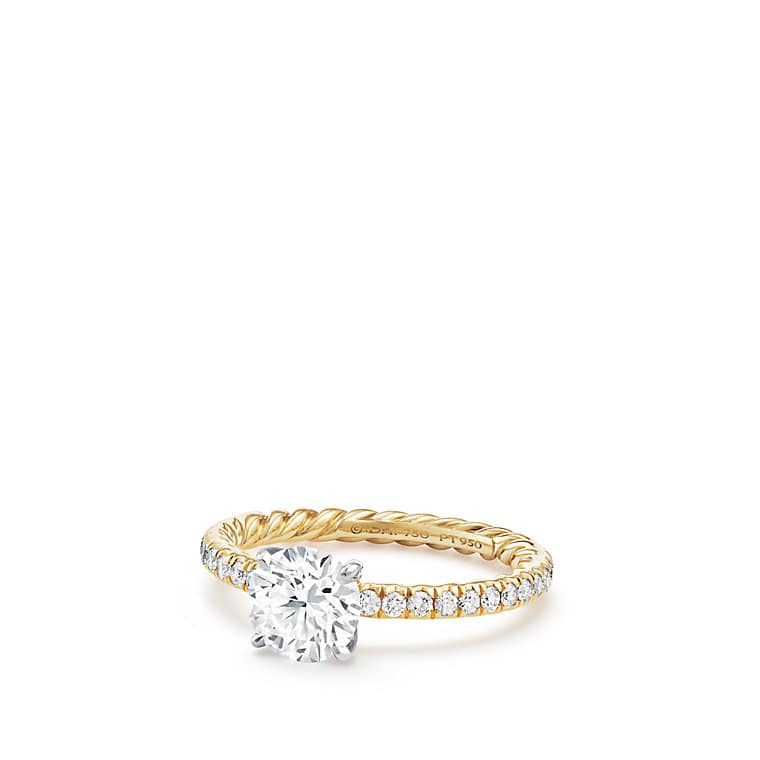 mount solitaire accents diamond ring engagement gold rings for semi shop