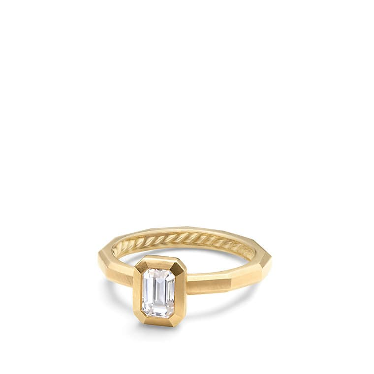 DY Delaunay Petite Engagement Ring in 18K Gold