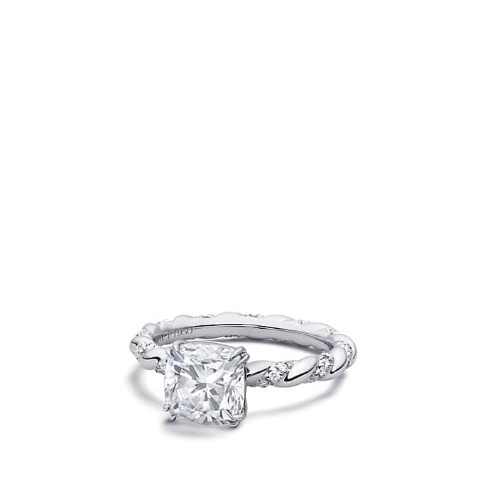 DY Unity Engagement Ring in Platinum, Cushion