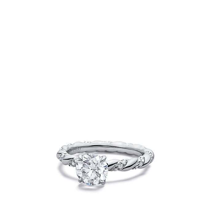 DY Unity Engagement Ring in Platinum, Round