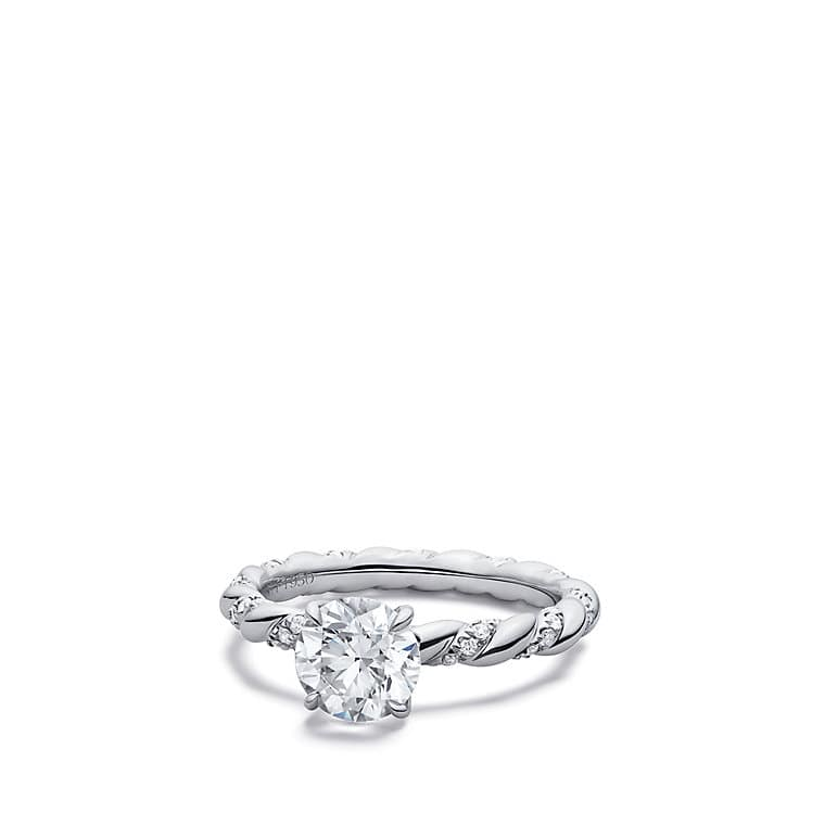 Dy Unity Engagement Ring In Platinum Round