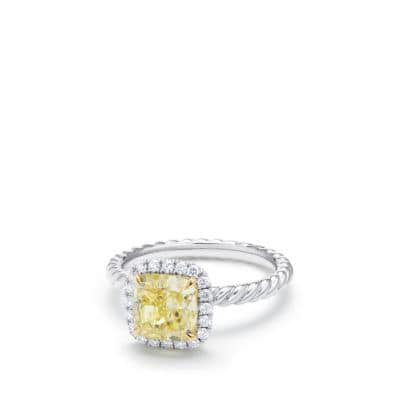 DY Capri Engagement Ring with Yellow Diamond, DY Signature Cut