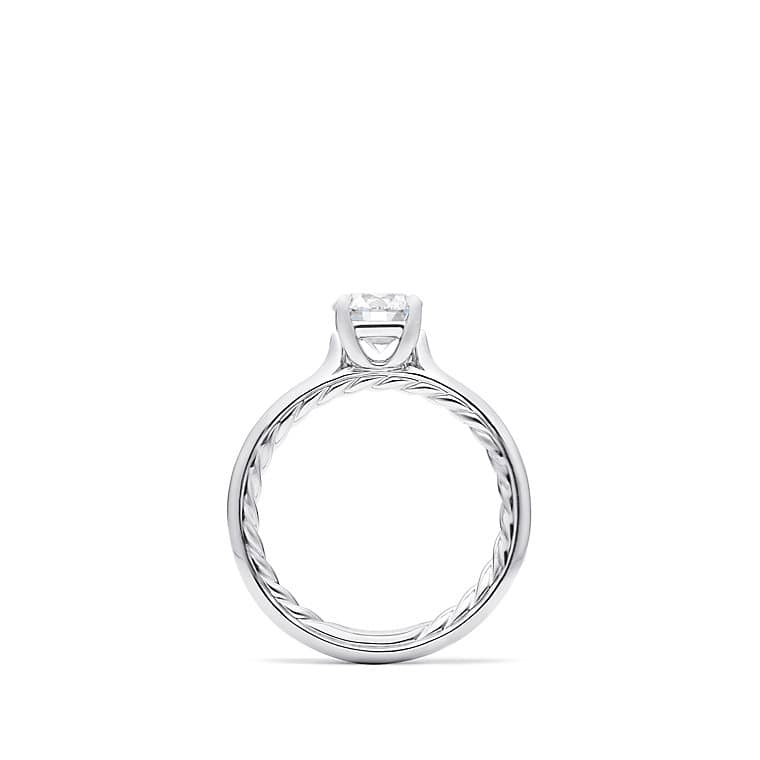 DY Eden Petite Solitaire Engagement Ring in Platinum, Round