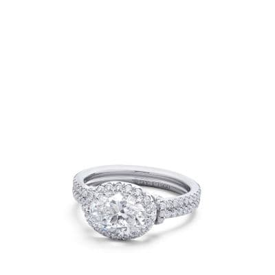 DY Astor Engagement Ring with Diamonds in Platinum, Oval