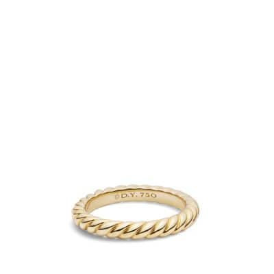 Cable Wedding Band in Gold