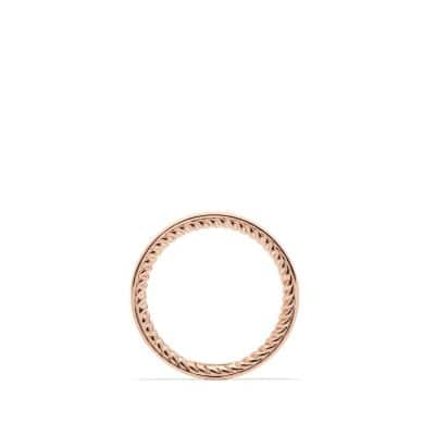 DY Eden Eternity Wedding Band with Diamonds in 18K Rose Gold, 2.3mm