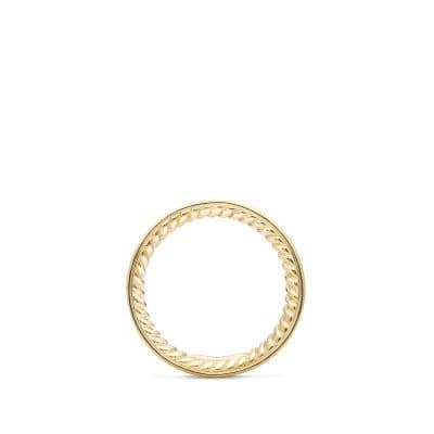 Eternity Wedding Band with Diamonds in Gold