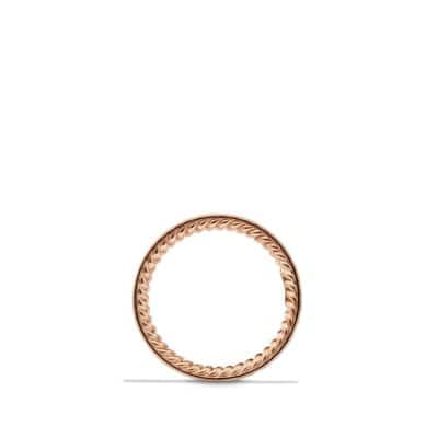 Eternity Wedding Band with Pink Sapphires in Rose Gold