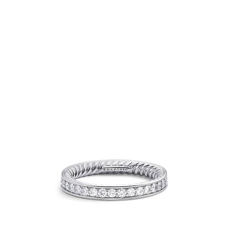 DY Eden Eternity Wedding Band With Diamonds In Platinum 3mm