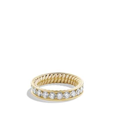 Wedding Ring with Diamonds in Gold