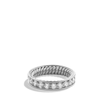 Wedding Band in Platinum with Diamonds