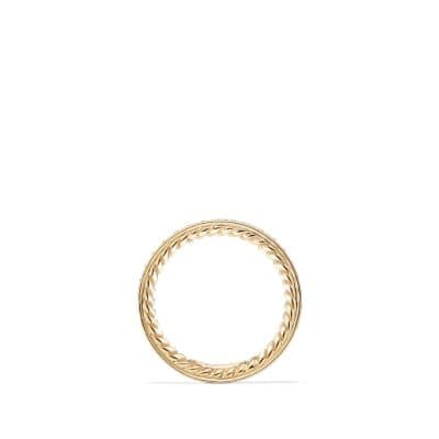 Wedding Band in Gold with Diamonds