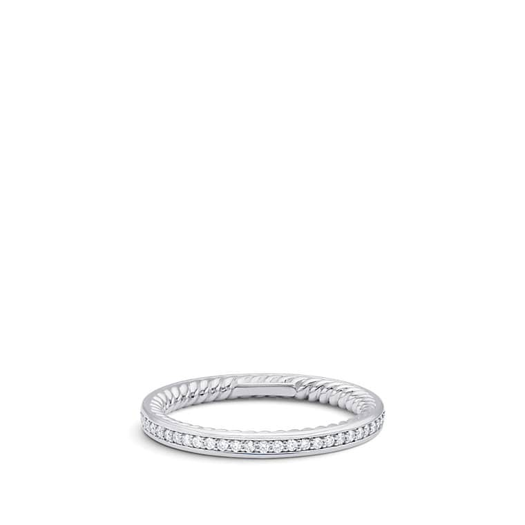 DY Eden Eternity Wedding Band With Diamonds In Platinum 23mm