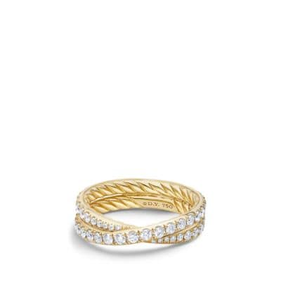 Wedding Band with Diamonds in 18K Gold