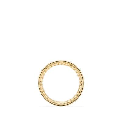 DY Eden Eternity Wedding Band with Diamonds in 18K Gold, 3.3mm