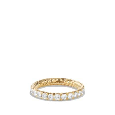 DY Eden Single Row Wedding Band with Diamonds in 18K Gold, 2.8mm
