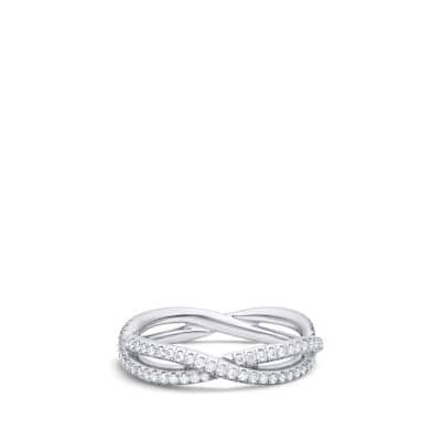 DY Lanai All Pavé Wedding Band with Diamonds in Platinum
