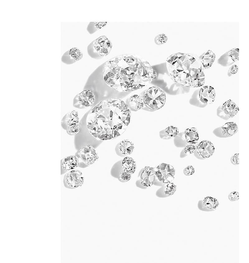 A selection of loose diamonds