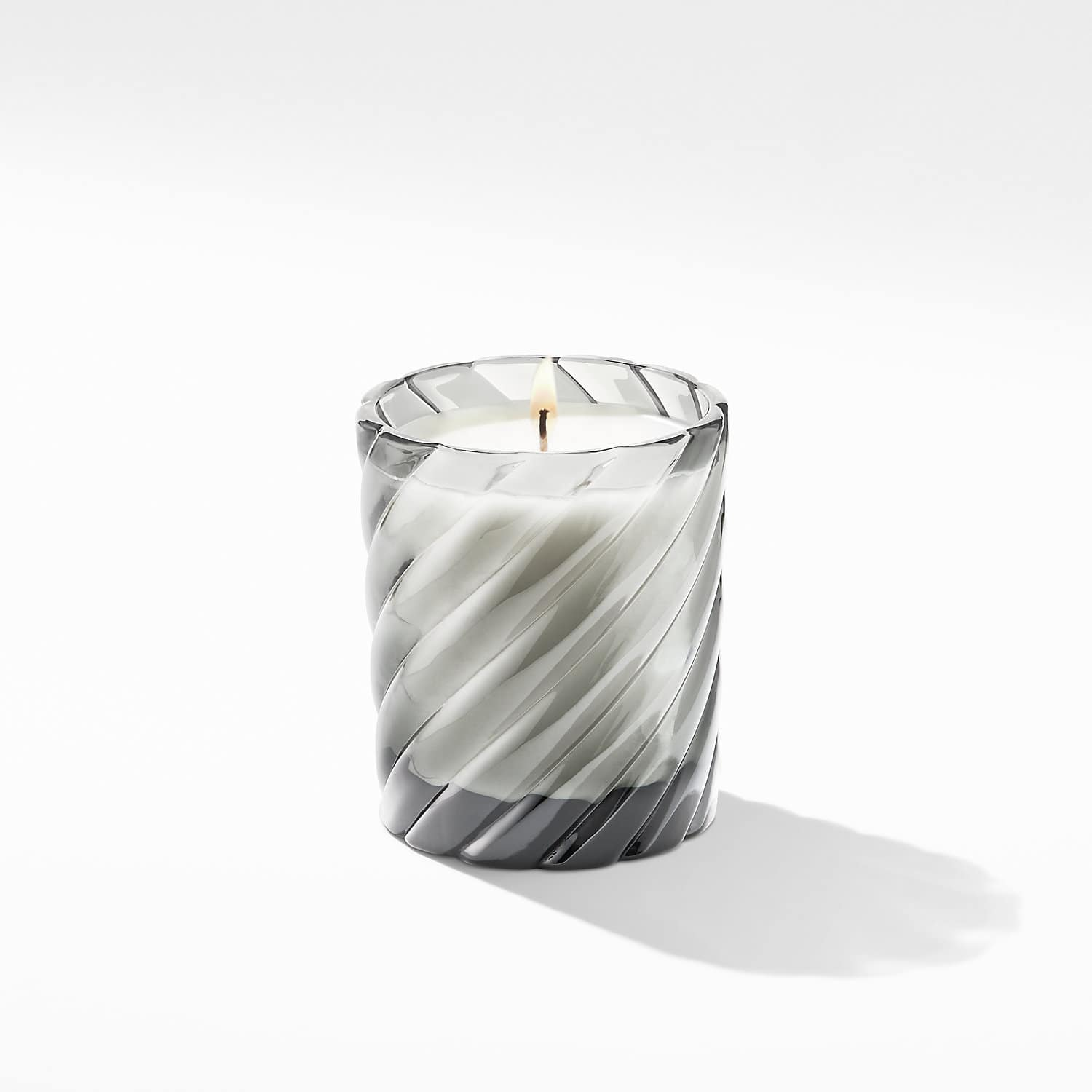 Cable Clic Candle With Berries And Rose Scent In Grey Gl