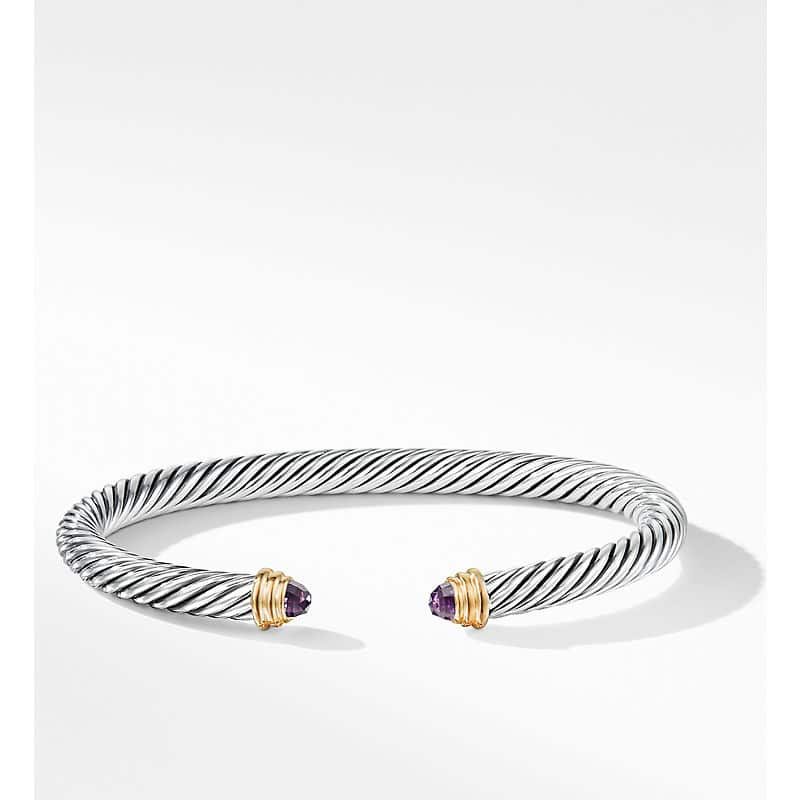 Cable Classics Bracelet with 14K Yellow Gold, 5mm